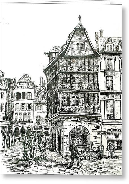La Maison Kamerzell Greeting Card by Janice Best