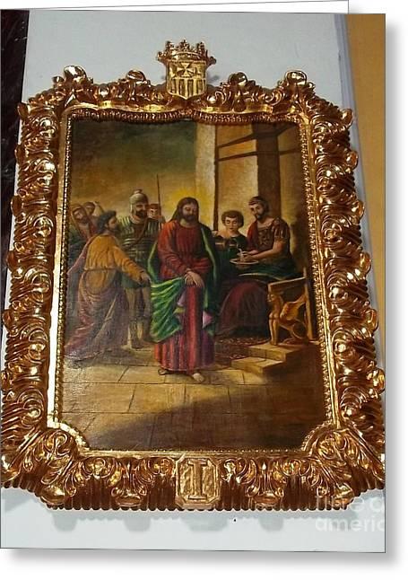 La Merced Via Crucis 1 Greeting Card by Vladimir Berrio Lemm
