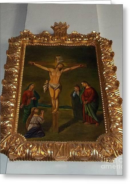La Merced Via Crucis 12 Greeting Card by Vladimir Berrio Lemm
