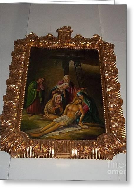 La Merced Via Crucis 13 Greeting Card by Vladimir Berrio Lemm