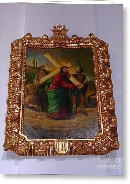 La Merced Via Crucis 2 Greeting Card by Vladimir Berrio Lemm