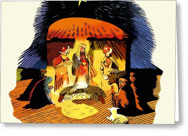 La Natividad Greeting Card by Roger Kohn