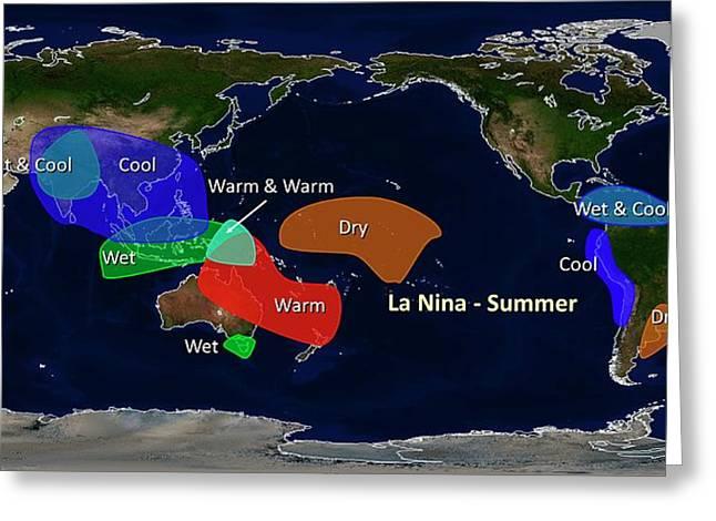 La Nina Summer Effects Greeting Card