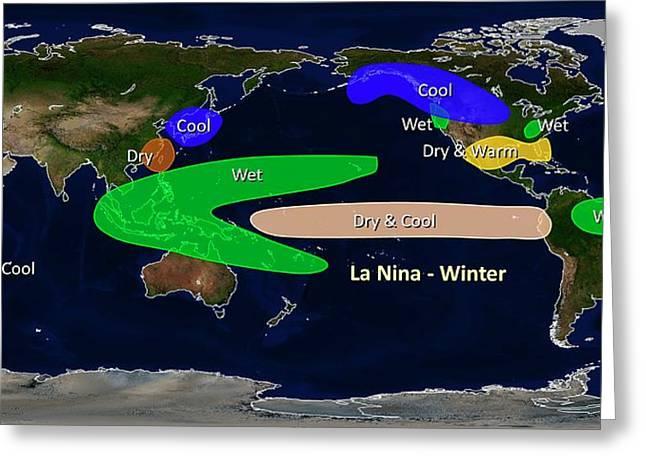 La Nina Winter Effects Greeting Card