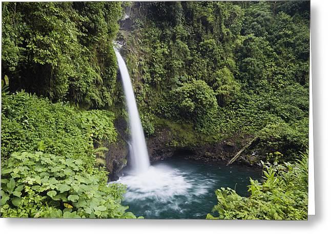 La Paz Waterfall Costa Rica Greeting Card by Konrad Wothe