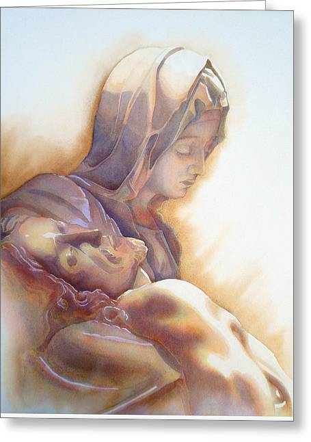 La Pieta By Michelangelo Greeting Card