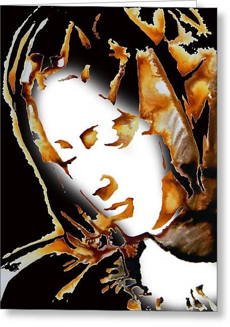 La Pieta Face By Michalengelo Greeting Card