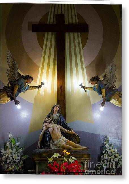 La Pieta   The Crucifixion Of Christ Greeting Card by Al Bourassa