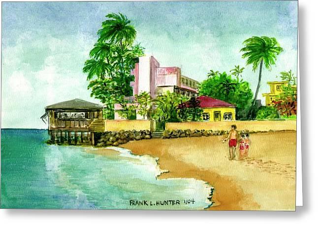 La Playa Hotel Isla Verde Puerto Rico Greeting Card