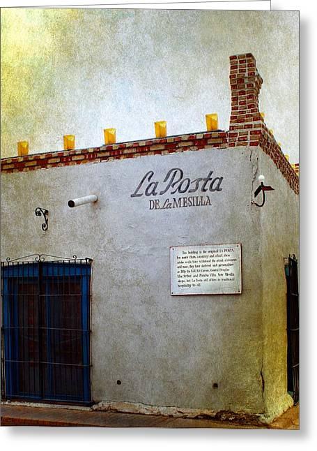 La Posta De La Mesilla Greeting Card by Barbara Chichester