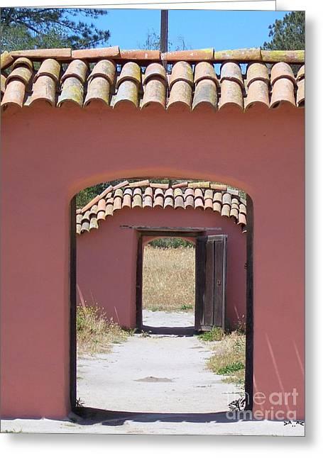 La Purisima Doorways Greeting Card