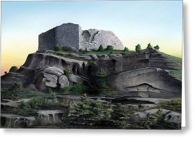La Rocca De Monte Calvo Greeting Card by Albert Puskaric