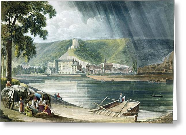 La Roche, From Views On The Seine Greeting Card by John Gendall