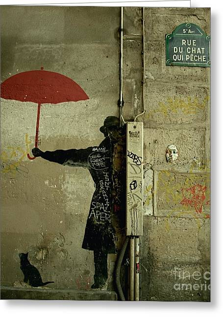 La Rue Du Chat Qui Peche Greeting Card