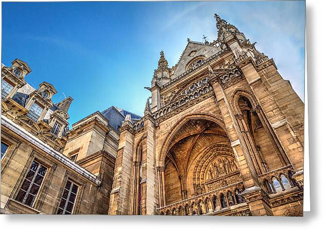 La Sainte-chapelle  A Contrast In Design Greeting Card by Tim Stanley