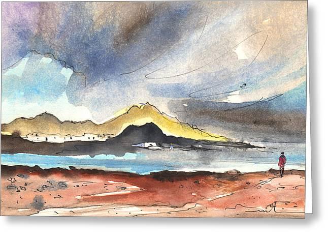 La Santa In Lanzarote 01 Greeting Card by Miki De Goodaboom