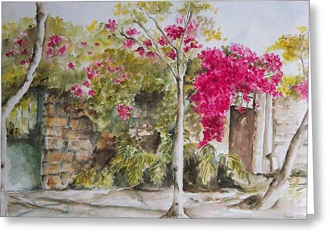 Bougainvillea I Greeting Card