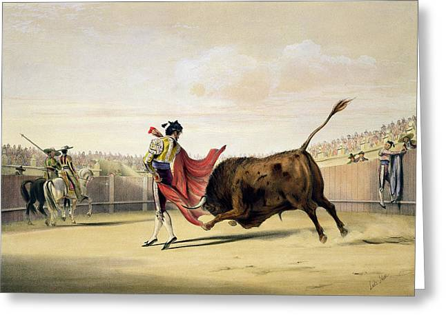La Suerte De La Capa, 1865 Greeting Card by William Henry Lake Price