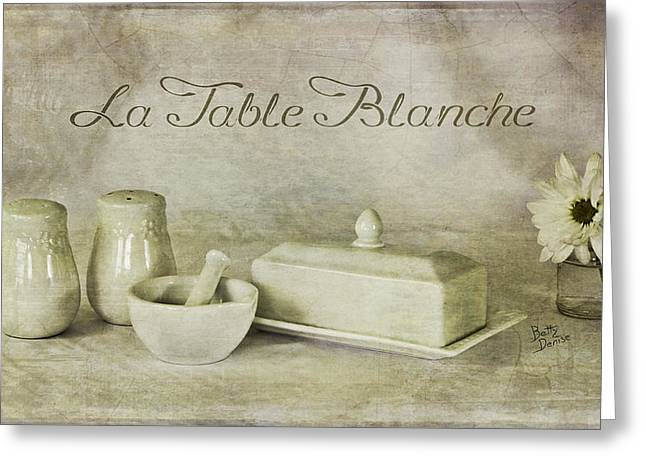 La Table Blanche - The White Table Greeting Card