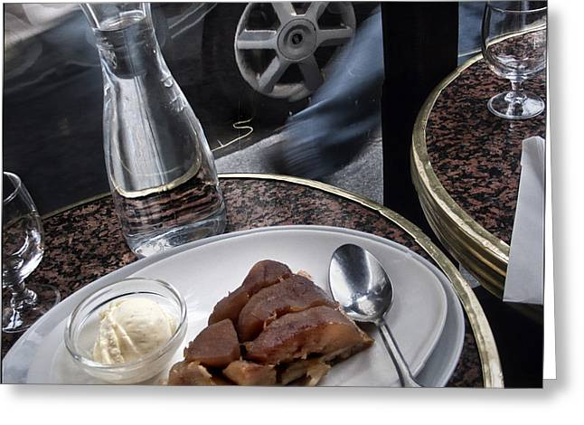 Greeting Card featuring the photograph La Tarte A Grande Vitesse. by Michel Verhoef