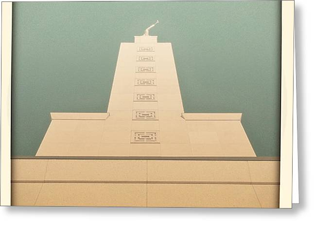 L.a. Temple Green Greeting Card