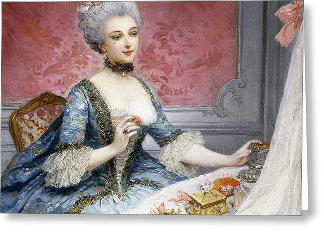 La Toilette Greeting Card by Lucius Rossi