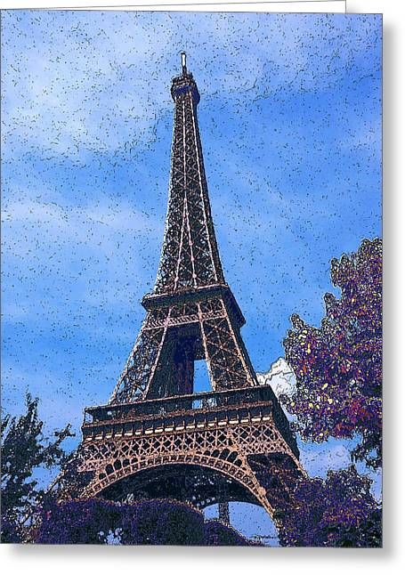 La Tour D Eiffel 2 Greeting Card by Estefan Gargost