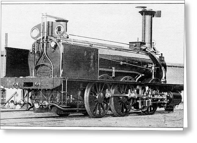 La Vaux Locomotive Greeting Card by Cci Archives