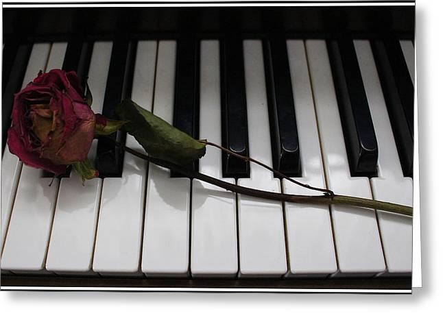 La Vie En Rose - A Love Song  Greeting Card by Dora Sofia Caputo Photographic Art and Design