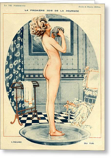 La Vie Parisienne 1918 1910s France Greeting Card