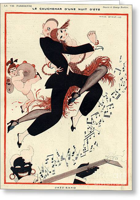 La Vie Parisienne 1919 1910s France G Greeting Card by The Advertising Archives