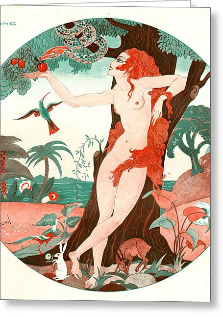 La Vie Parisienne 1920s France Cc Edam Greeting Card by The Advertising Archives
