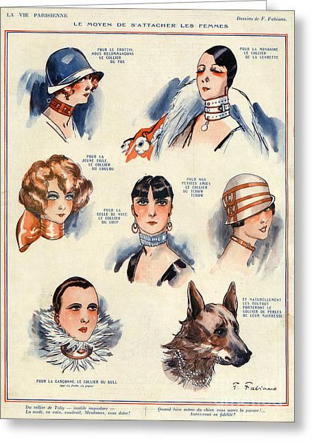 La Vie Parisienne 1924 1850s France F Greeting Card