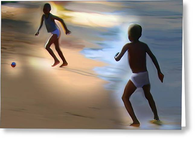 Greeting Card featuring the painting Labadee Beach by Bob Salo