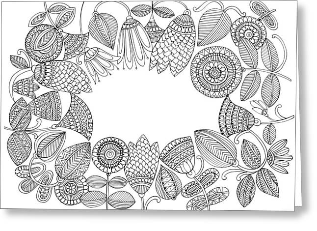 Label Pattern 5 Greeting Card by Neeti Goswami