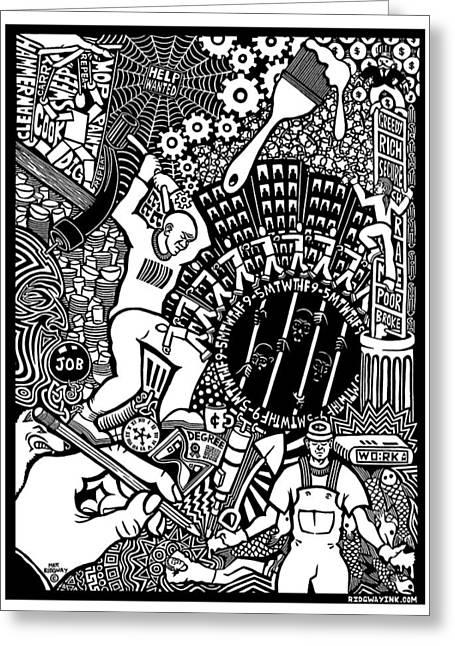 Labor Daze Greeting Card by Matthew Ridgway