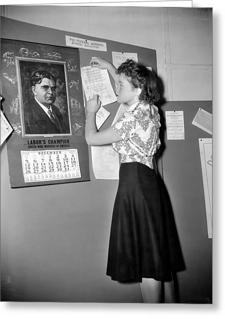 Labor Movement, 1938 Greeting Card