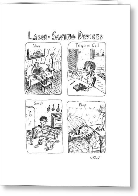 Labor-saving Devices Greeting Card by Roz Chast