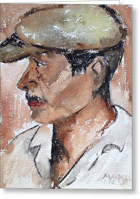Laborer Greeting Card by Maxwell Mandell