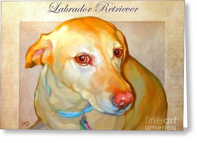 Labrador Art Greeting Card by Iain McDonald