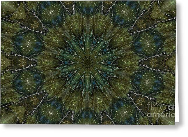 Labradorite -3- Mandala Greeting Card