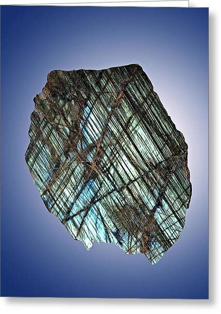 Labradorite Greeting Card by Charles D. Winters