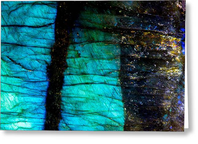 Labradorite Macro 2 Greeting Card by Robert Storost