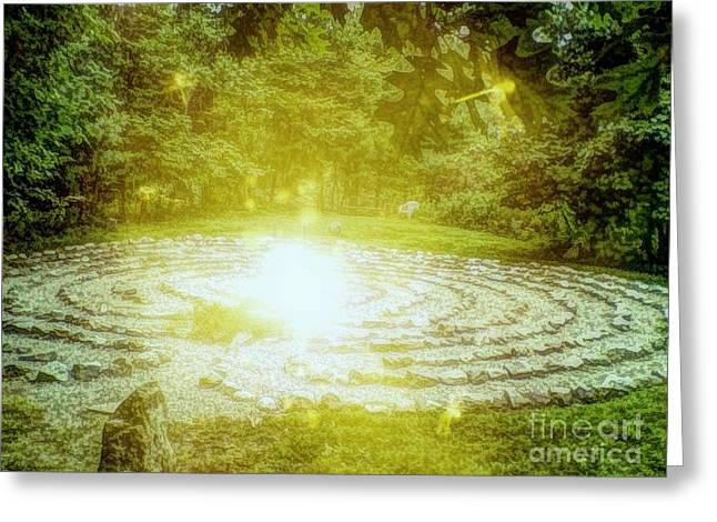Labyrinth Myth And Mystical Greeting Card
