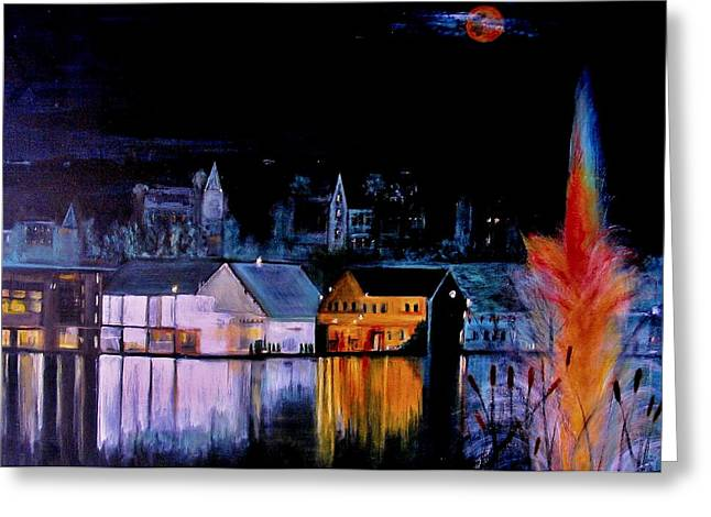 Lac  Brome   Nightscape Greeting Card