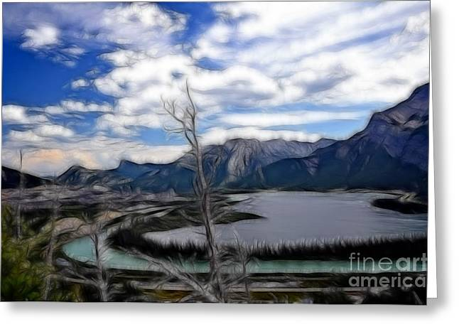 Lac Des Arcs Fractal Greeting Card