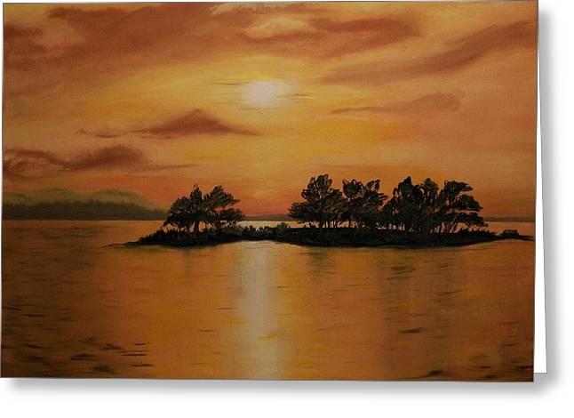 Lac La Biche  Sunset Greeting Card