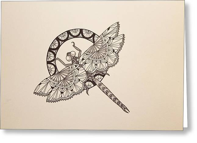 Lace Dragonfly Greeting Card by Jodi Harvey-Brown