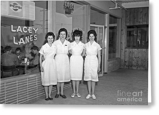 Lacey Lanes - Waitresses 1964 Greeting Card