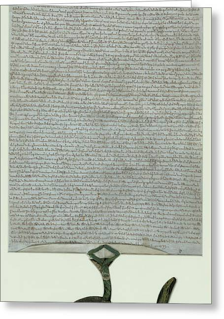 Lacock Abbey Magna Carta Greeting Card by British Library